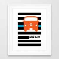 vw bus Framed Art Prints featuring VW Bus by see BOLD