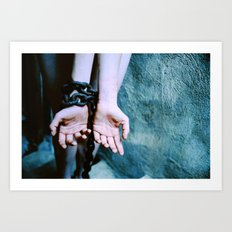 cracked and bruised. Art Print