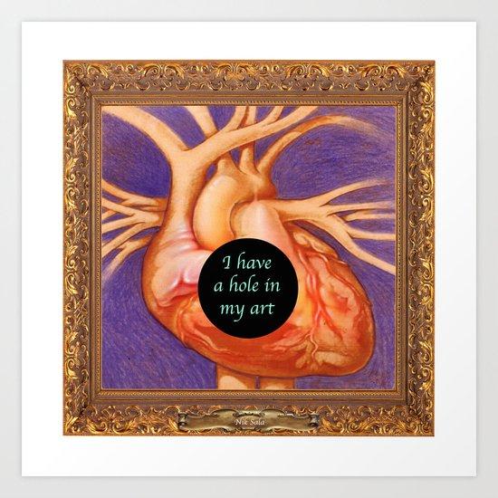 Hole in Art Art Print