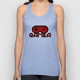 Red Gamer Unisex Tank Top