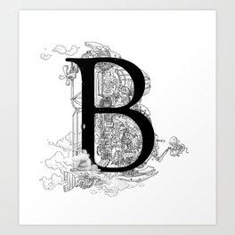 Alphabetanauts - B Art Print