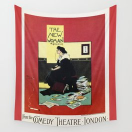 The New Woman, vintage Comedy Theatre london advert Wall Tapestry