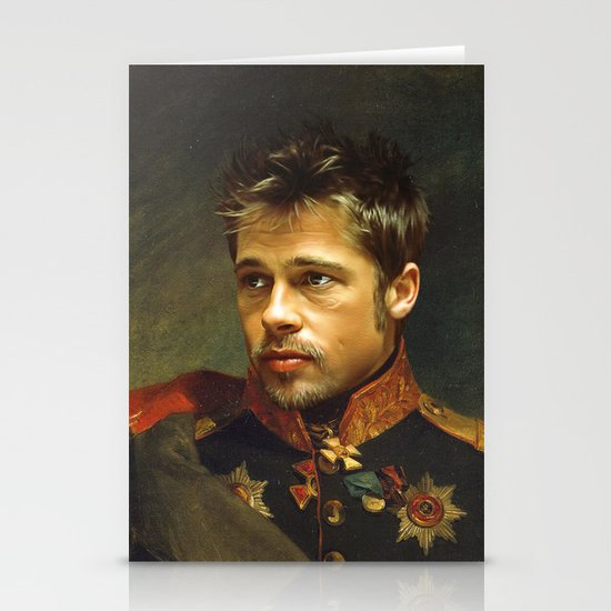 Brad Pitt - replaceface Stationery Cards
