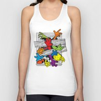 cartoons Tank Tops featuring Cartoons Attack by luis pippi