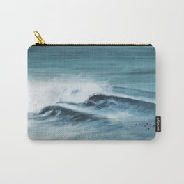 Surfing big waves Carry-All Pouch