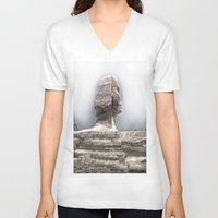 egypt V-neck T-shirts featuring Egypt by Alex Alexandru