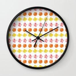Flower Pattern #2 Wall Clock
