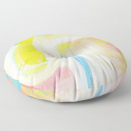 Abstract Yellow Square Study Floor Pillow