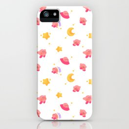 Peachy Kirby Pattern iPhone Case