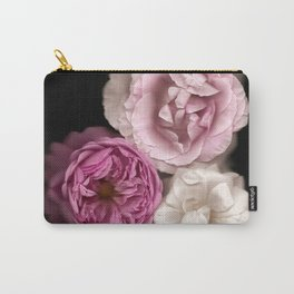 Purple, Pink, and White Roses Carry-All Pouch