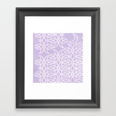 Purple Lunar Framed Art Print