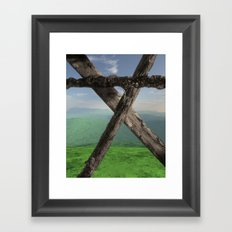 THE MONUMENT, LOOKING NORTH Framed Art Print