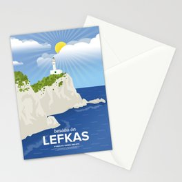 Lefkada, Lighthouse at Cape Ducato (GR) Stationery Cards