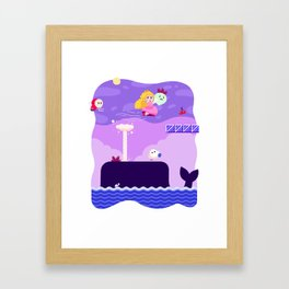Tiny Worlds - Super Mario Bros. 2: Peach Framed Art Print