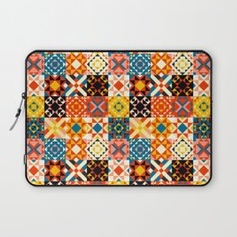 Maroccan tiles pattern with red an blue no2 Laptop Sleeve