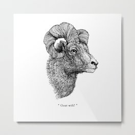 "TYPOANIMAL -  ""Goat wifi?"" Metal Print"