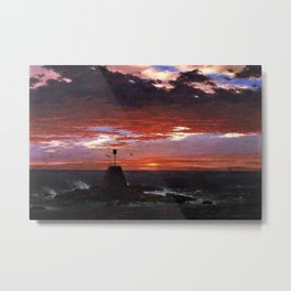 Beacon off Mount Desert Island, Maine by Frederic Edwin Church Metal Print