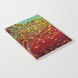 Abstract Fall tree Notebook