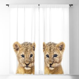 Baby Lion, Baby Animals Art Print By Synplus Blackout Curtain