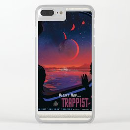 NASA Visions of the Future - Planet Hop from Trappist-1e Clear iPhone Case