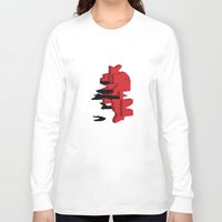 japan Long Sleeve T-shirts featuring JAPAN by Joe Pansa