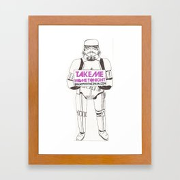 Stormtrooper Take Me Home Tonight Framed Art Print