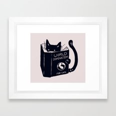 World Domination For Cats Framed Art Print