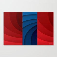 Red and blue color gradient Canvas Print