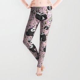 Pretty Panda Pattern Leggings
