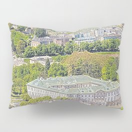 Austria - drawing Salzburg 1 Pillow Sham