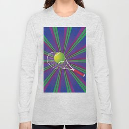 Tennis Ball and Racket Long Sleeve T-shirt