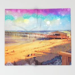 Nags Head Pier Throw Blanket