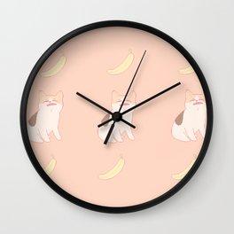 no like banana Wall Clock