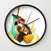 transistor Wall Clocks featuring See You in the Country - Transistor by Stephanie Kao