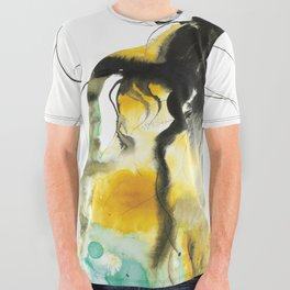Sleeping Drag Queen All Over Graphic Tee