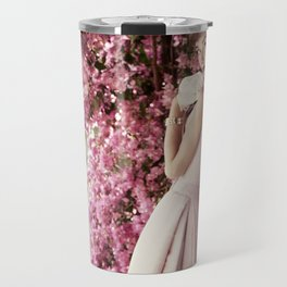 Audrey Hepburn Flowers Travel Mug