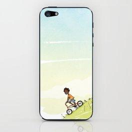Boy on Bike iPhone Skin