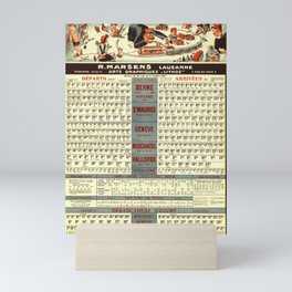 horaires cff et cgn r marsens vintage Poster Mini Art Print