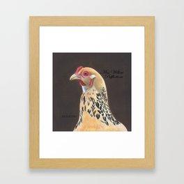Willow Pillow Framed Art Print