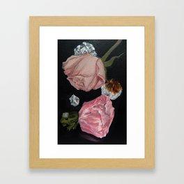Rose, Rose Quartz, Crystals & Frog Prince Framed Art Print