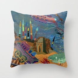 Divers Throw Pillow