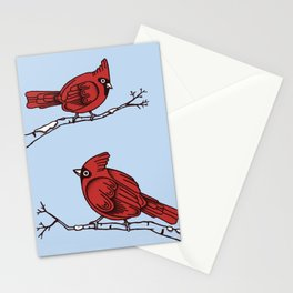 Winter Cardinals  Stationery Cards