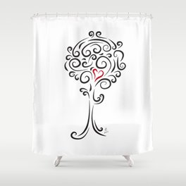 Tree of love - The heart of Esperanza Shower Curtain