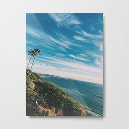 Blue skies, Blue oceans. Metal Print