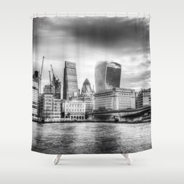 City of London and River Thames Shower Curtain