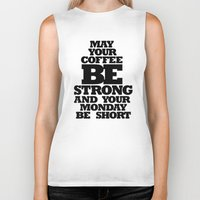 strong Biker Tanks featuring STRONG by ALLTYPE
