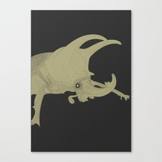 All lines lead to the...Inverted Rhino Beetle Canvas Print