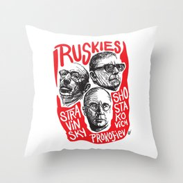 Ruskies-Russian composers Throw Pillow