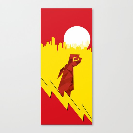 Polygon Heroes Rise 4 Canvas Print