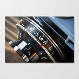 Retro photo camera lens Canvas Print